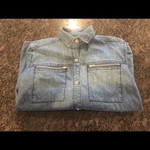 7 For All Mankind Jean Button Down Shirt